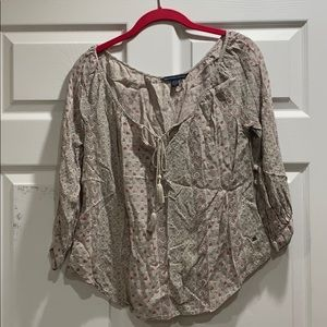 American Eagle Woven Boho Peasant Top XS